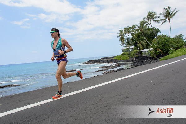Tim Reed in Kona 2014 - The athlete started his 2015 season by Claiming the Asia Pacific 70.3 Championships in Auckland