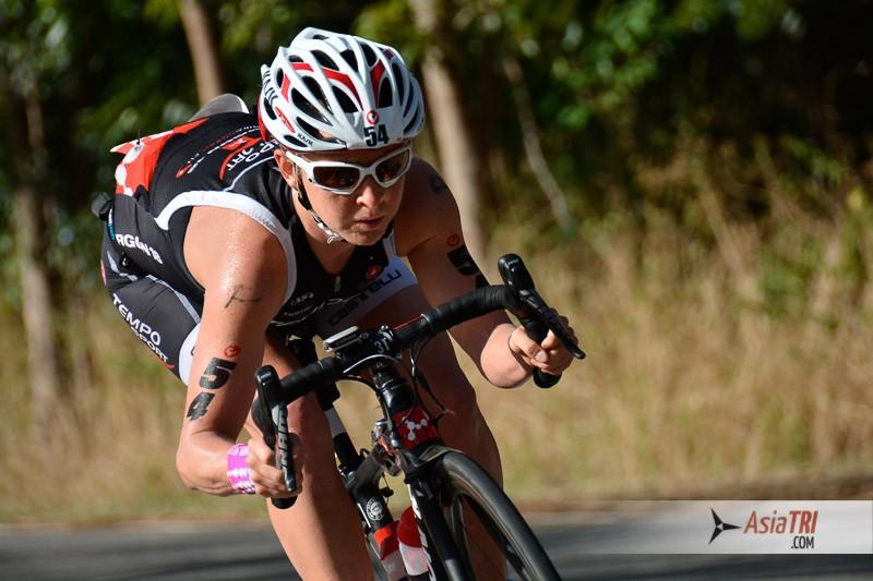 Female winner Emma Pooley, opted for a road bike frame and bars