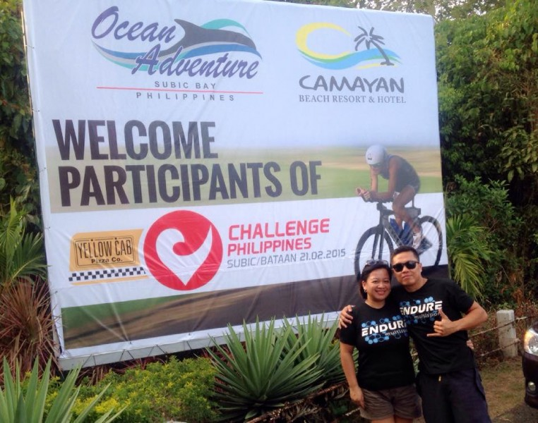 Raffy and wife at Challenge Philippines, in Subic Bay