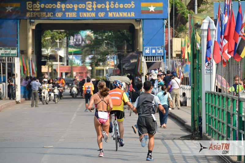 The run course was half in Thailand, then across the board to Myanmar for the other half before coming back to Thailand
