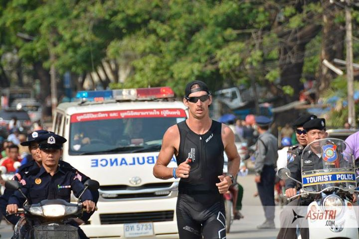 Mitch Robins extends his lead at the Golden Triangle Triathlon