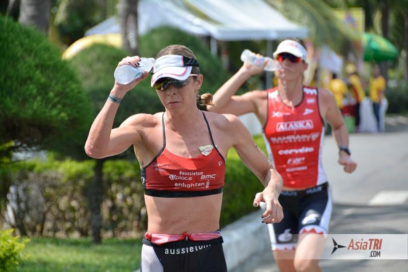 Liz Blatchford and Caroline Steffen at Ironman 70.3 Vietnam 2015
