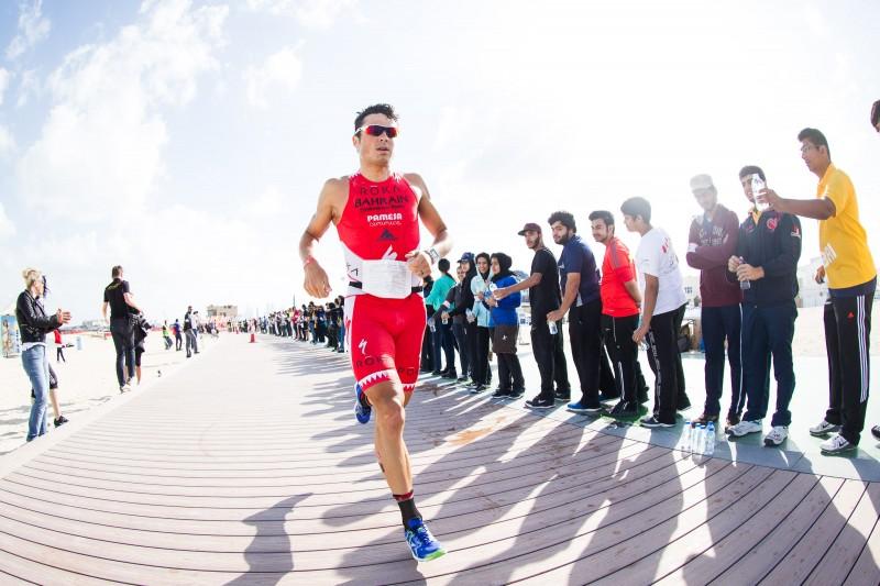 Javier Gomez in action at Challenge Dubai. Photo: Sascha Defort