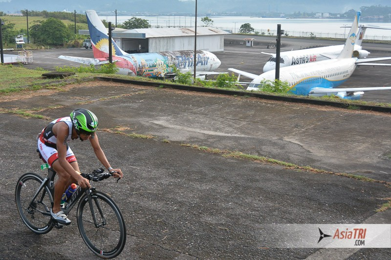 Bike course starts on the Subic Bay airport