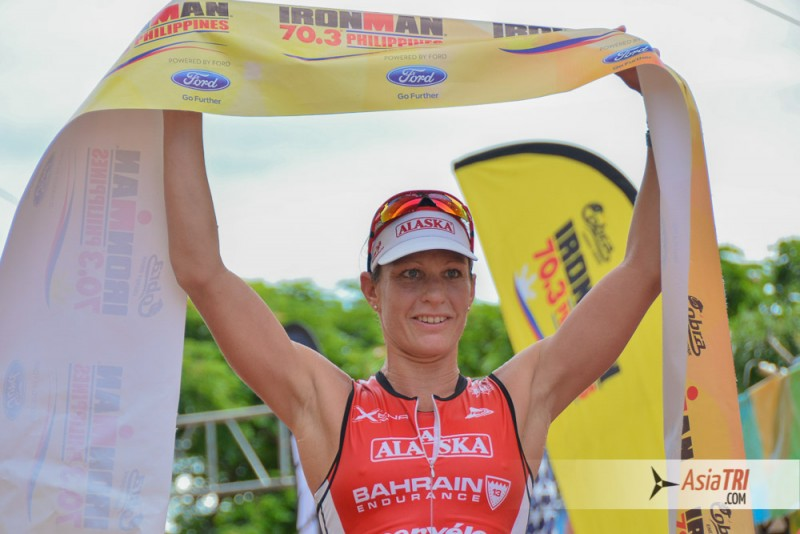 Caroline Steffen wins the 2015 Cobra Ironman 70.3 in Cebu, Philippines