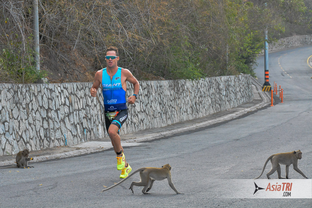 Monkey Zone at the Bang Saen Triathlon in Thailand