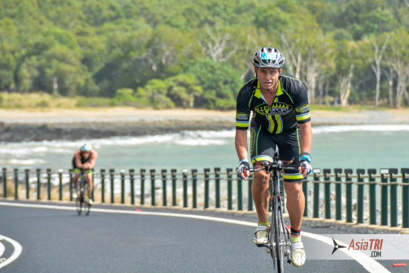 Rolling hills, rain forest and coastline roads makes it a fun and diverse bike course