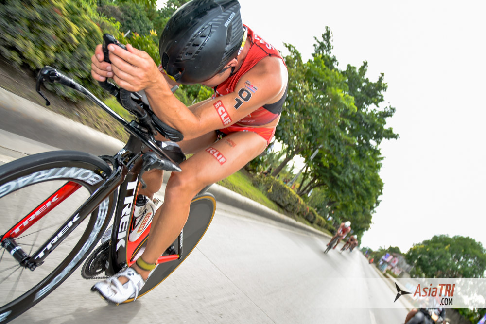 Tim Reed pulls the men's pack at the Ironman 70.3 Subic Bay, Philippines