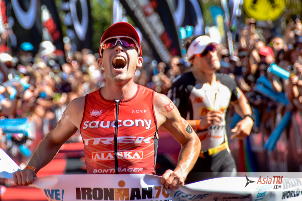Tim Reed outsprint Sebastian Kienle to take the 2016 Ironman 70.3 World Championships