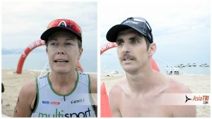 Post-race Video Interview with Challenge Vietnam winners Mitch Robins & Jessica Fleming