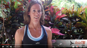 Singapore based triathlete Vicky Hill (GBR) pre-kona interview
