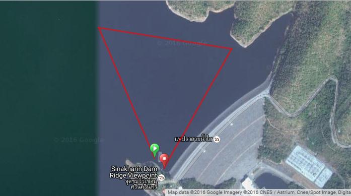 Swim Course Map: Along Srinakarin Dam