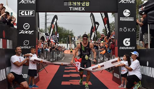 World Ironman Record Win for Sanders and A Three-Peat for Kessler