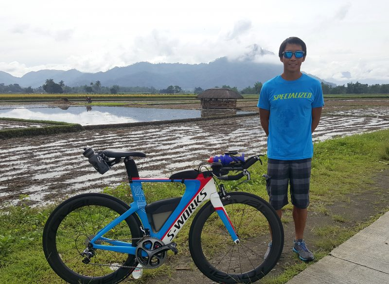 "Brett Sutton called him ""The Farmer"".  Jong and his trusty Specialized SWorks Shiv, in his hometown Bukidnon, Philippines."