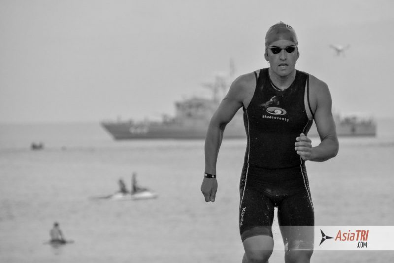 5- Matt Burton exits the swim at Laguna Phuket Triathlon