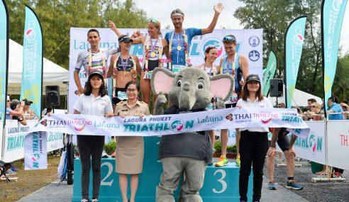 Team Thanyapura's Athletes at the Top of Laguna Phuket Triathlon