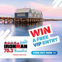 Win a FREE ENTRY:  Ironman 70.3 Busselton-May 6, 2018