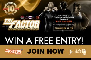 Win a Free Entry to Tri-Factor 10 Challenge in Hua Hin, Thailand-Race Date: June 17, 2018