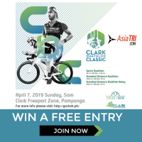 Win a FREE ENTRY to Clark Duathlon Classic-Clark, Philippines – Race Date-07 April 2019