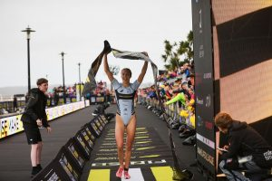 Luis, Beaugrand of France Blew Competition Away at Day 2 Finals of Super League Triathlon Jersey