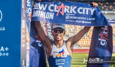 New Clark City hosts successful inaugural triathlon; Chicano, Plaza top Elite races