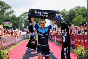 Hannah Wells' rising star continues trajectory with IRONMAN 70.3 Taupō win