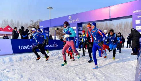 Podium sweep for Russia in the debut of the Winter Triathlon World Cups